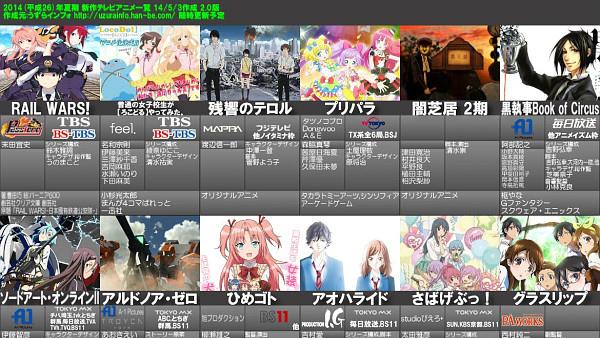 2014年夏アニメが開始