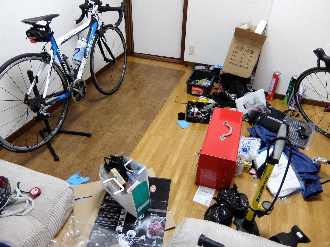 自転車部屋の整理整頓