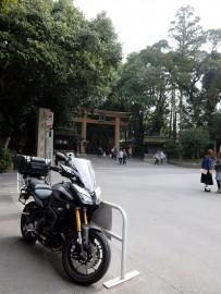 暖かくなってきたのでMT-09 TRACERに乗って奈良の大神神社に行ってきました